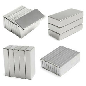50pcs Super Strong Neodymium Block Square Fridge Strip Cuboid Rare Earth Magnet