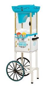 Commercial Vintage Snow Cone Maker Cart Shaved Ice Machine Slushy Shaver Crusher