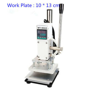 110v 220v Hot Foil Stamping Machine 10 13cm Stamper Bronzing Card Logo Embossing