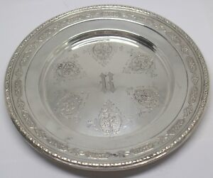 Towle Louis Xiv 5435 Sterling Silver Bread Plate Monogrammed H 89057 13dbw