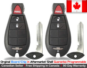 2x New Oem Replacement Keyless Remote Key Fob For Dodge Ram