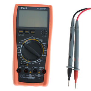 3 Lcd Digital Temperature Inductance Frequency Multimeter Grey Orange