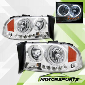 ccfl Halo 1997 2004 Dodge Dakota 1998 2003 Durango Led Chrome Headlights Pair