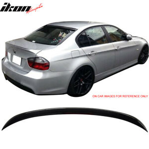 Fits 06 11 E90 Oe Factory Trunk Spoiler Painted 475 Black Sapphire Metallic
