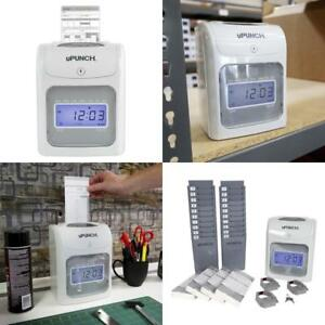 Electronic Time Clock Stamp Employee Attendance Recorder Office Payroll System