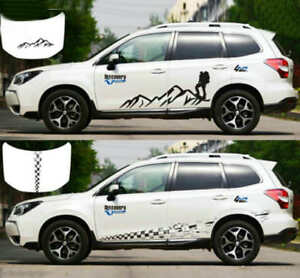 Graphics Mountain Climber Sticker Chequered Flag Decal For Subaru Forester Rav4