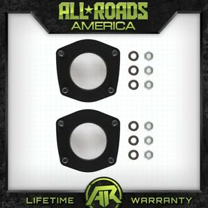 2 Front Leveling Lift Kit Black For 2006 2010 Jeep Xk Commander 4x2 4x4