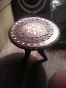 Antique Indian Teak End Table