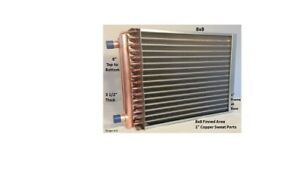 8x8 Water To Air Heat Exchanger 1 Copper Ports W Ez Install Front Flange