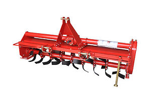 48 Rotary Tiller Pto Rototiller 3 Point Mount 4ft