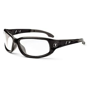 Ergodyne Skullerz Valkyrie Safety Glasses Black Frame