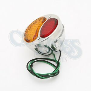 Ford Model A 1928 31 Led Taillight 6 Volt Stainless Steel Left Red Amber