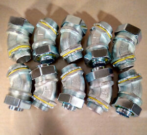 new 10 Pack Hubbell raco 3444 1 Sealtite 45 Degree