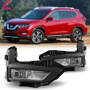 17 19 For Nissan Rogue Clear Lens Pair Oe Fog Light Lamp Wiring Switch Kit Dot