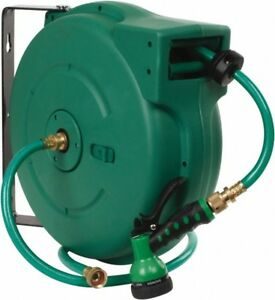 Value Collection 65 Spring Retractable Hose Reel 140 Psi Hose Included