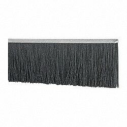 Pro source 1 2 Inch Back Strip Brush Width Metal Black Nylon Strip Brush 6 I