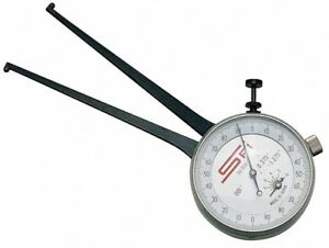 Spi 20 To 45 Mm Inside Dial Caliper Gage 0 025 Mm Graduation 3 25 Inch Leg