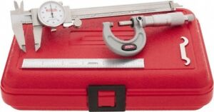 Spi 3 Piece Machinist Caliper And Micrometer Tool Kit 0