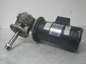 C42d17fk1c Vf49f1 49449 Leeson Motor With Gear 1750rpm 90v 5a used Tested