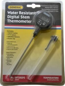 General 40 To 392 deg f Digital Pocket Thermometer 0