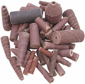 Merit Abrasives 100 Piece Aluminum Oxide Cartridge Roll Set 60 80