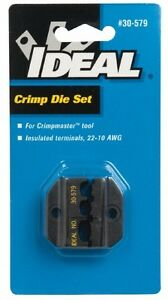 Ideal Terminal Crimper Insulated Terminal 22 10 Awg Die Set Only Style