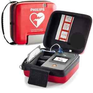 Philips Heartstart Fr3 Aed Text Defibrillator New Battery Spanish And English