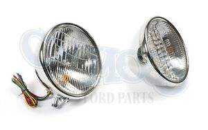 Ford Model A 1930 31 Headlights Plain 12 Volt Halogen With Turn Signal