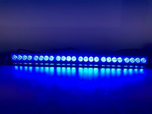 24 Ultra Bright Led Tir Interior Led Dash Light In Blue Emergency Light