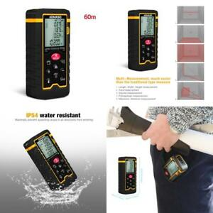 Electronic Handheld Laser Distance Meter W Lcd Backlight Ip54 Water Protection