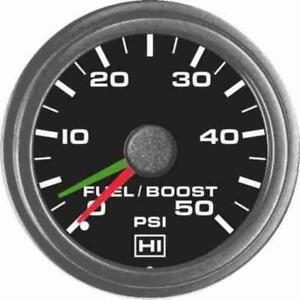Hewitt Industries 2 Fuel boost Gauge With White Illumination 0 50psi