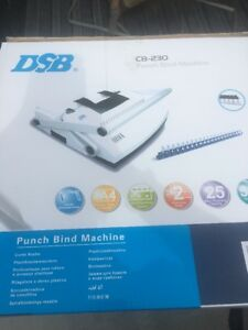 Dsb Cb 230 Binding Machine For Up To 2 Plastic Comb 500 Sheets