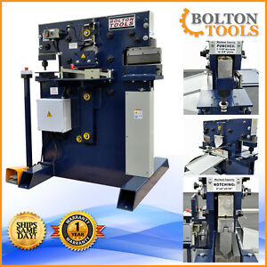 New Bolton Tools 55 Ton Ironworker Hydraulic Iron Worker With Free Shipping
