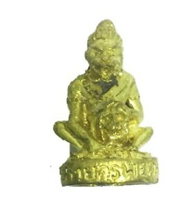 Puchao Tiger Hermit Phra Arjarn O Thai Amulet Wealth Luck Control Ghost Charm Lp