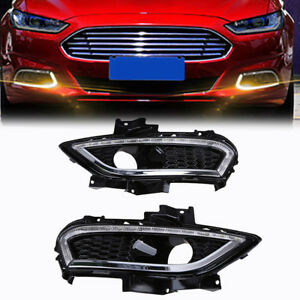 2013 2016 Ford Fusion Led Drl Front Driving Lamps Projector Headlights Fog Light
