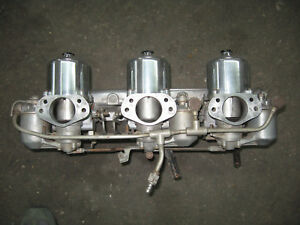 Jaguar Xke 4 2 Su Tir Carb Set Up With Plenum And Linkage And Air Cleaner