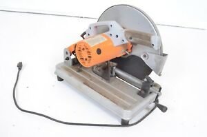 Chicago Electric 14 Cut off Saw Single Phase 2 Hp 3400 Rpm