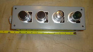 4 Pb Push Button Box With Westinghouse Buttons Switches