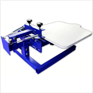 New 1 Color Simple Screen Printing Press With Removable Pallet T shirt Printe A