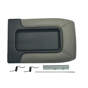 Gray Center Console For 99 07 Chevy Silverado Lid Arm Rest Latch