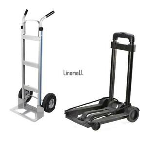 Portable Cart Folding Dolly Push Truck Hand Collapsible Trolley Luggage Us