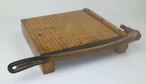 Ideal School Supply Paper Cutter Ingento No 3 Vintage Heavy Duty Wood Metal