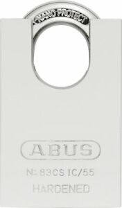 Abus 83cs ic 55 S2 Sfic Small Format Interchangeable Core Solid Steel Chrome W o