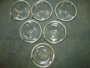 Pyrex Laboratory Evaporating Dish 105 X 55 Mm Chemistry Glassware New Box Of 6