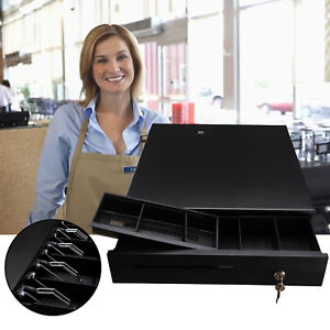Heavy Duty cash Register Drawer Pos Box With Money Tray Coin Drawer Push Button