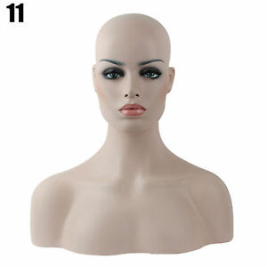 New Realistic Mannequin Head Display Fiberglass Hat Glasses Mold Stand Wig No 11