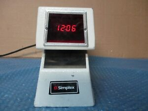 Simplex 1605 9002 Time Stamp Clock