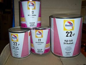 Glasurit 22 Line 522 mc35 2 5 Litre Hs Solid Colour Mixing Clear Basf