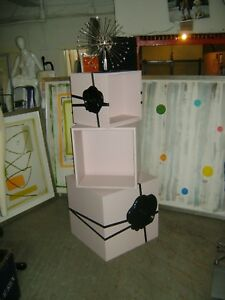 Viktor Rolf Pink Black Retail Flower Bomb Shelving Rack Display