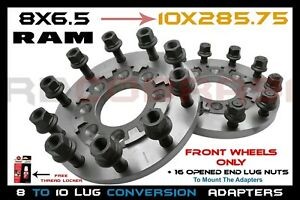2pc Front Only 2012 2019 Ram 8x6 5 To 10 Lug 22 5 24 5 Wheels Steel Construction